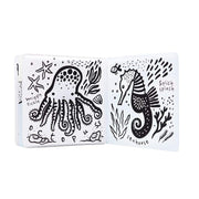 WEE GALLERY - adorable bath book for kids - color me ocean - color changing with water
