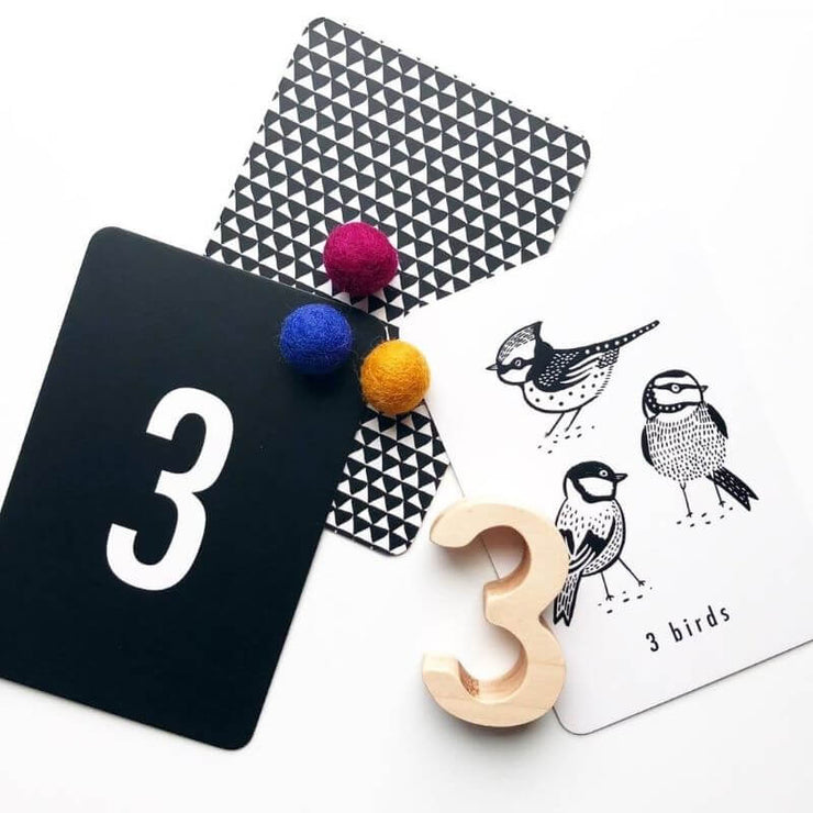 WEE GALLERY - number cards for baby - nature - educational toys