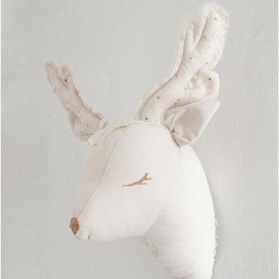 beautiful ivory deer trophy that will perfeclty decorate your baby's room.