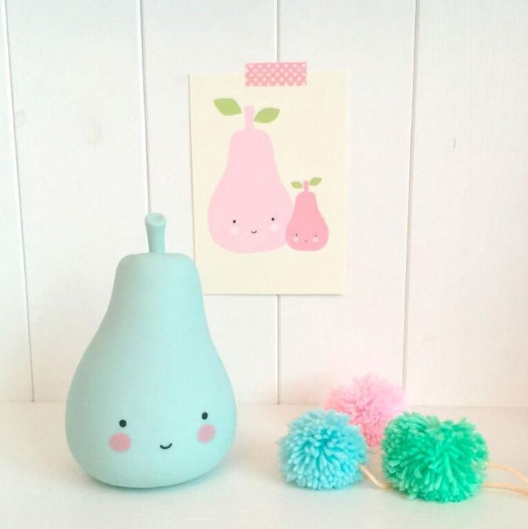 A Little Lovely Company - Pear Led Lamp for kids - cute and colorful lamp - gift idea