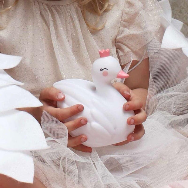 A Little Lovely Company - Swan Led Lamp - Decoration for kids bedroom - cute and fun