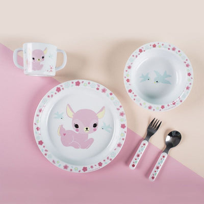 A Little Lovely Company - kids tableware - pink fawn