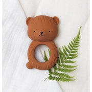 bear teething ring - French Blossom- natural rubber