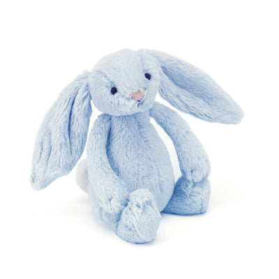 Jellycat blue toy rabbit rattle