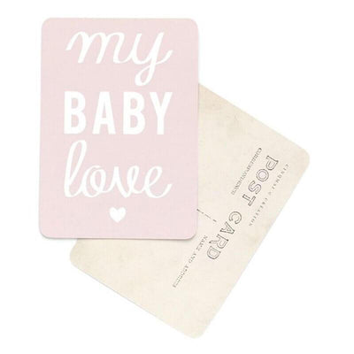 "Greeting card Mona ""My Baby Love"" - soft pink"
