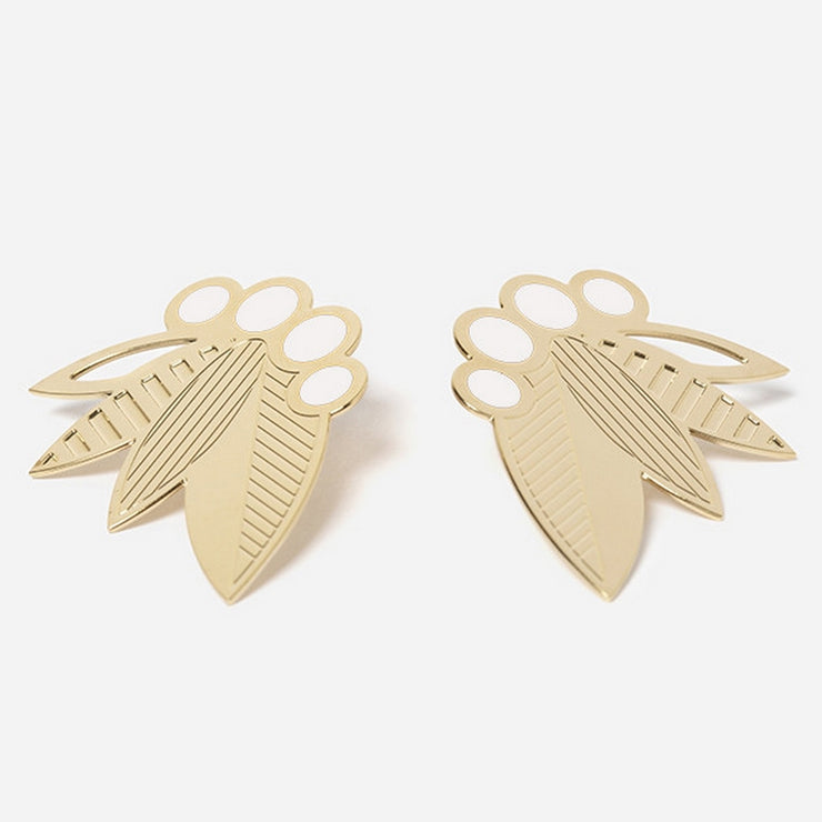 Poo XL earrings - Ivory
