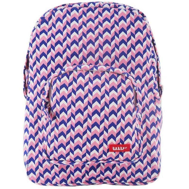Childrens backpack - Bakker made with love - blue and pink