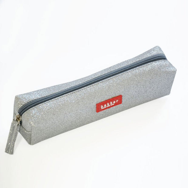Grey glitter pencil case - Bakker made with love