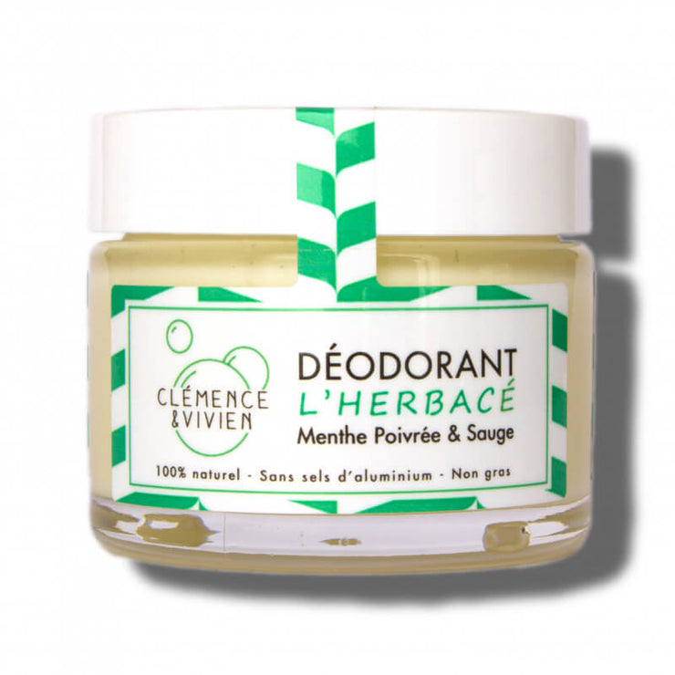Discover L'herbacé, a natural deodorant created by Clémence & Vivien, made in France with 100% natural ingredients.