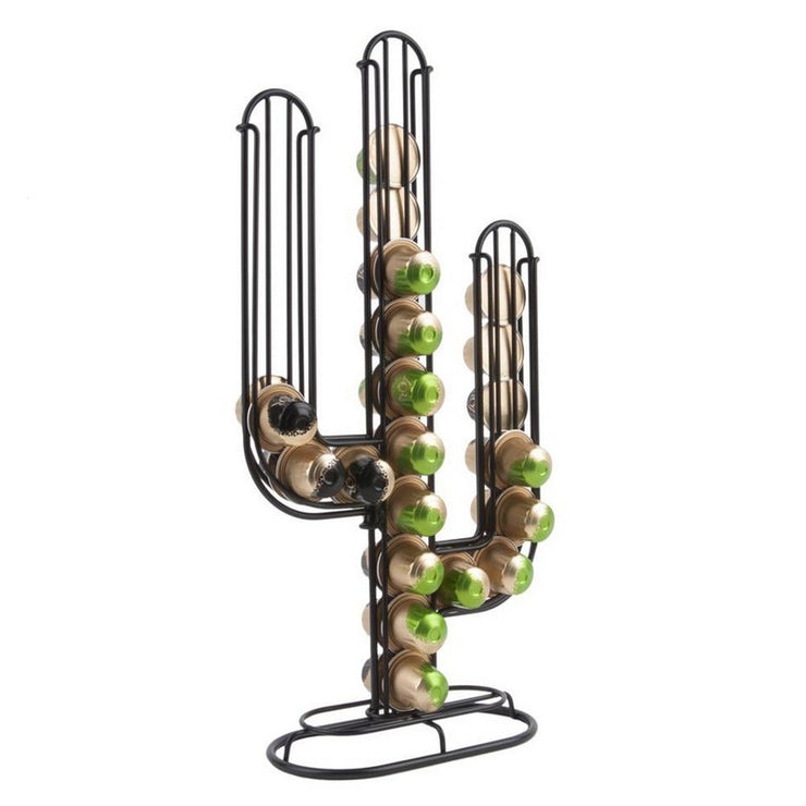 PRESENT TIME - Cactus capsule-holder - Black - Scene