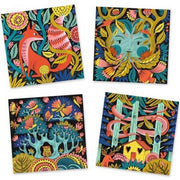 DJECO - Felt pens kit - Fantastic forrest - 3D colouring sheets - Details