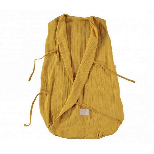 NOBODINOZ - Dreamy sleeping bag - Farniente Yellow - Organic cotton - Open