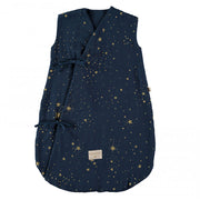 NOBODINOZ - Dreamy sleeping bag - Gold Stella / Midnight Blue- Organic cotton