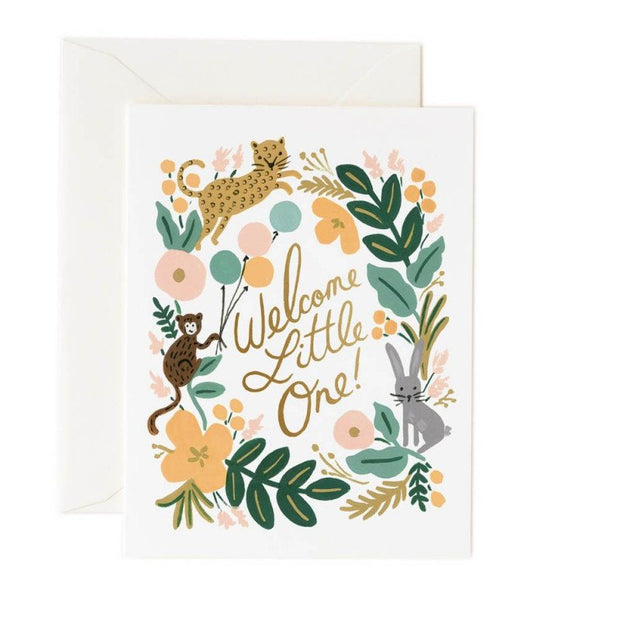 RIFLE PAPER CO - Birth card - Welcome little one Jungle