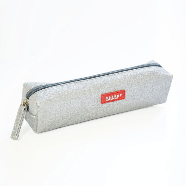 glitter pencil case grey - Bakker made with love