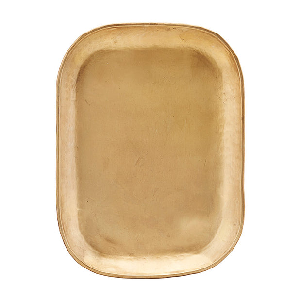 Small golden brass tray - Rich