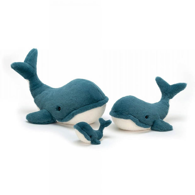 Wally the whale soft toy - Medium