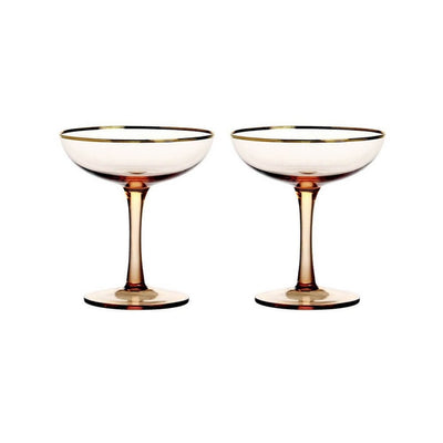 Set of two Champagne glasses - Pink
