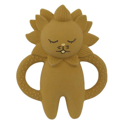 Lion teether in natural rubber