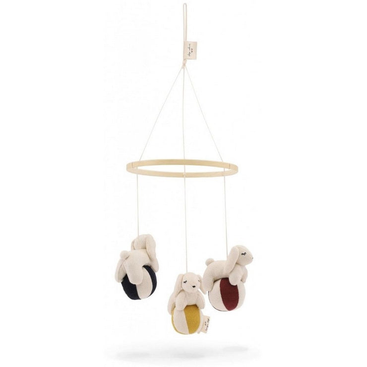 KONGES SLOJD - Rabbits baby mobile - Organic cotton