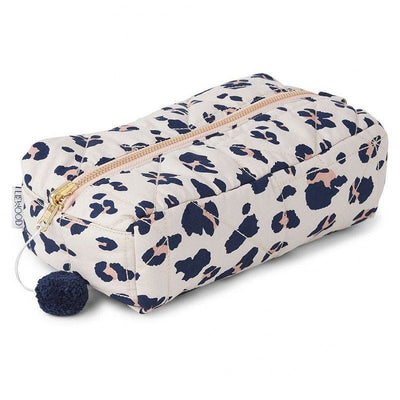 LIEWOOD - Organic cotton leo print toiletry case
