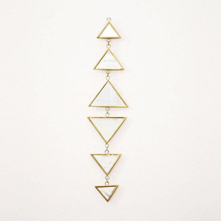 Triangle chain of mirrors