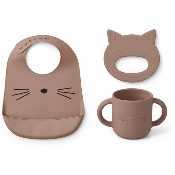 LIEWOOD - Baby's essentials silicon set - Pink cat