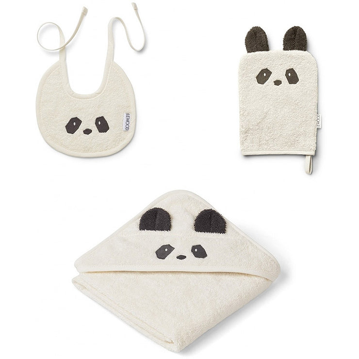 LIEWOOD - Baby package bath and lunch - Organic cotton - Panda - Details