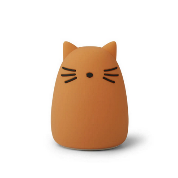 LIEWOOD - Cat night light in BPA free silicon - Mustard