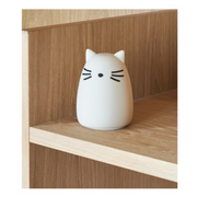 LIEWOOD - Cat night light in BPA free silicon - White - Scene