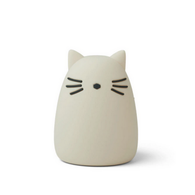 LIEWOOD - Cat night light in BPA free silicon - White