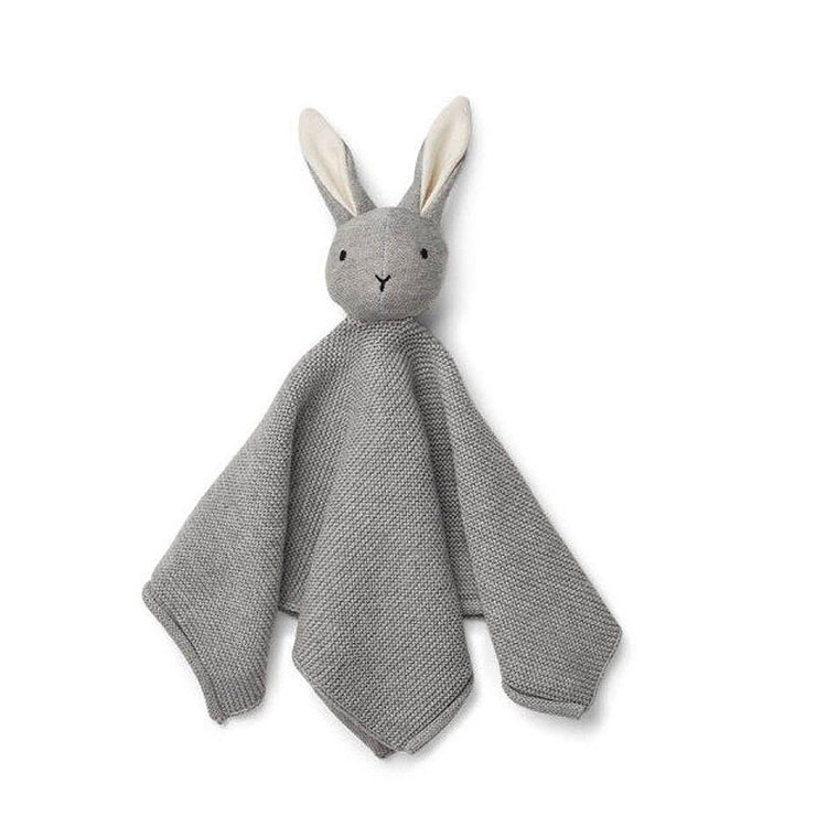 LIEWOOD - Knitted soother in organic cotton - Grey rabbit