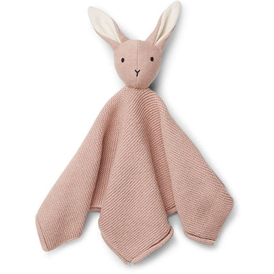 Knitted soother - Pink rabbit