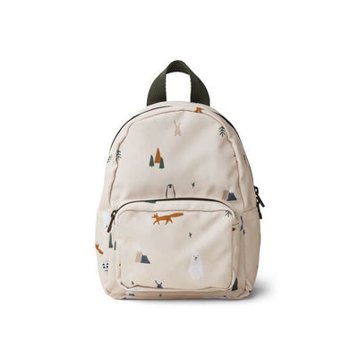 LIEWOOD - Mini backpack for toddlers made from recycled polyester with arctic animals print