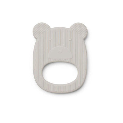 Anneau de dentition en silicone sans BPA  - Mr Bear gris