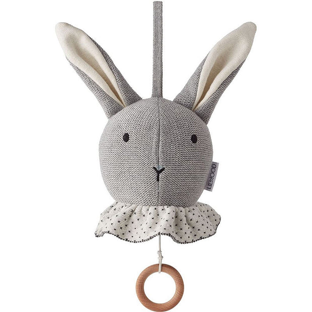 LIEWOOD - Music baby mobile in the shape of a rabbit made from organic cotton - Grey