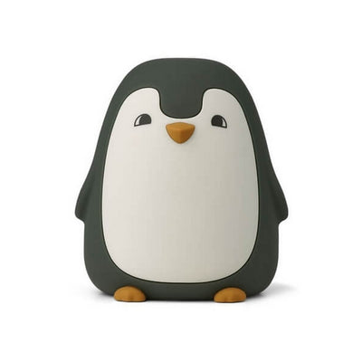LIEWOOD - Penguin night light in BPA free silicon - Dark green