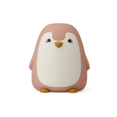 LIEWOOD - Penguin night light in BPA free silicon - Pink