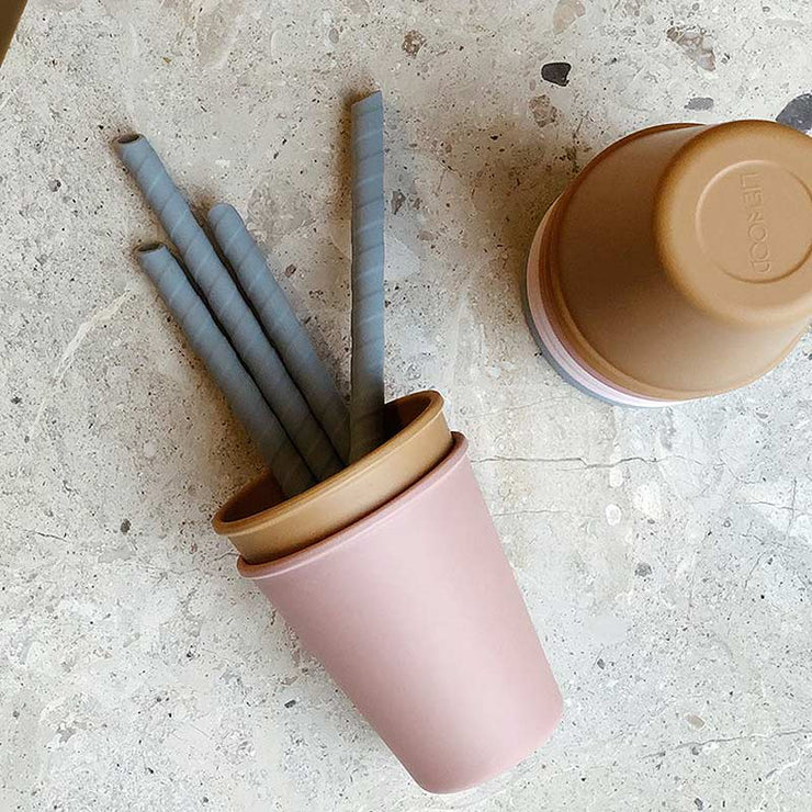 LIEWOOD - Set of eco-friendly straws made from BPA free silicon