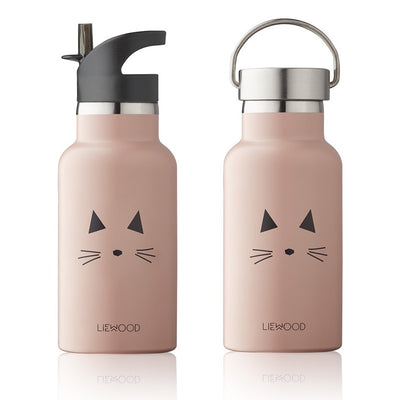 LIEWOOD - Water bottle for kids - Cat pink - Thermos