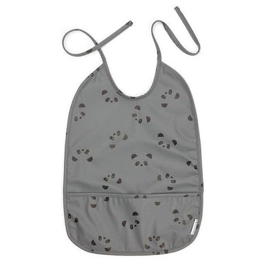 Water-repellent bib - Panda grey