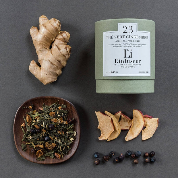 Organic ginger green tea - L'infuseur