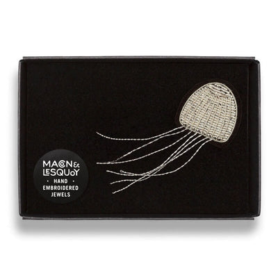 Embroidered brooch - Jellyfish