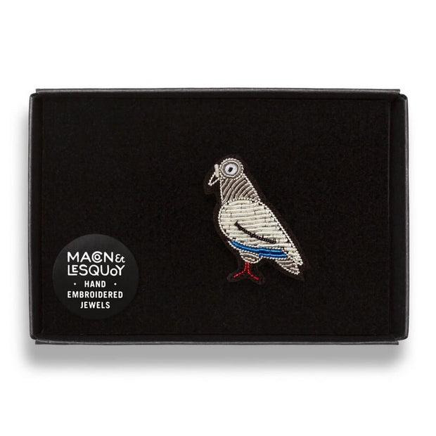 Embroidered brooch - Pigeon