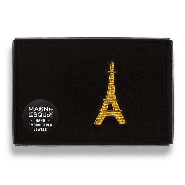 Embroidered brooch - Eiffel Tower