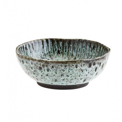 MADAM STOLTZ - Turquoise and black stoneware bowl