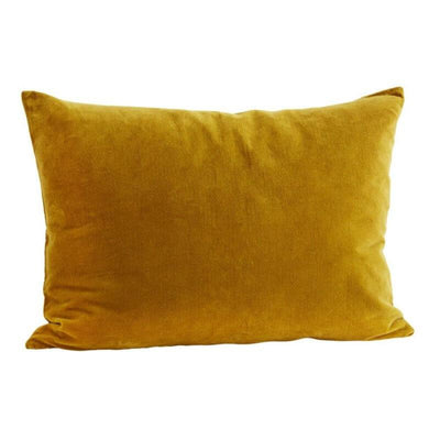 Rectangle velvet cushion cover - Mustard
