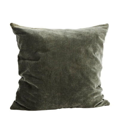 Velvet cushion cover - Moss green