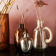 Small water jug - Glass and jute
