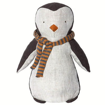 MAILEG - Penguin doll with striped scarf